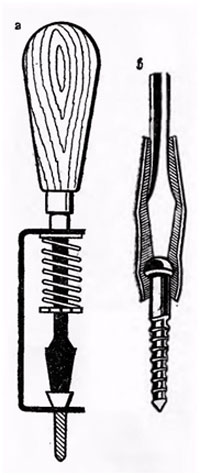 Отвертка с держателем шурупов