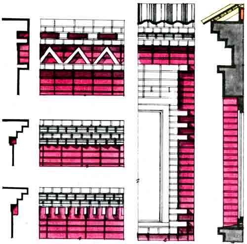 украшение кирпичного дома