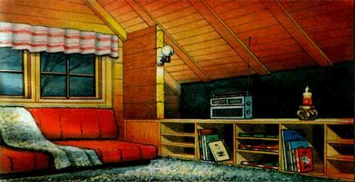 Отделка помещения  древесностружечными плитами