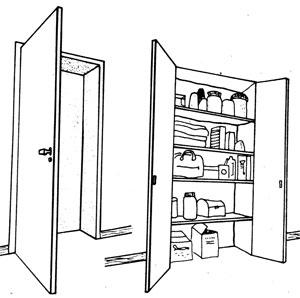 использование дверной ниши