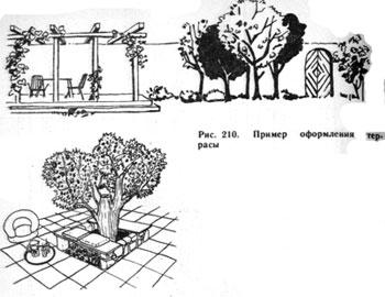 пример оформления террасы