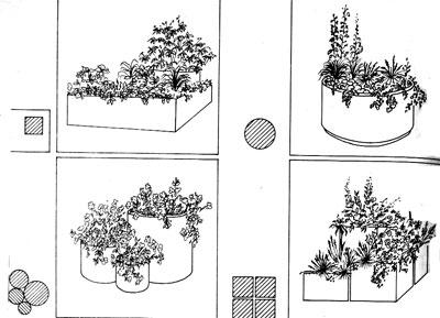 мини-сады на лужайке или во дворе
