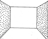 светлые обои  с мелким рисунком увеличивают объем комнаты