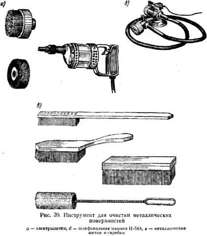 Инструмент для очистки металлических поверхностей