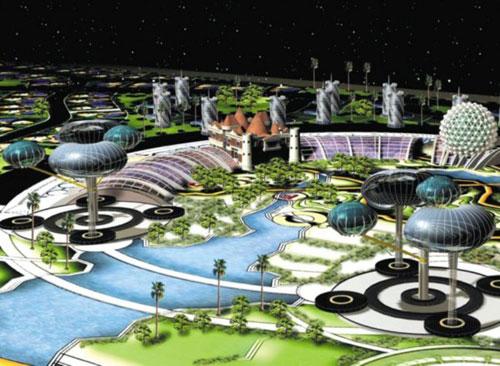 вращающийся Дубай