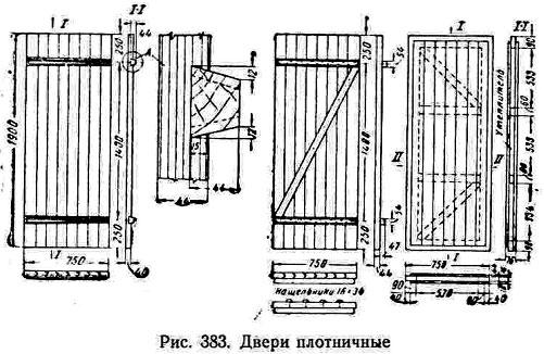 Двери плотничные
