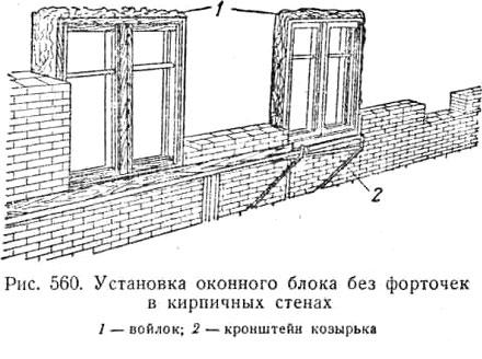 Установка оконного блока в кирпичную стену