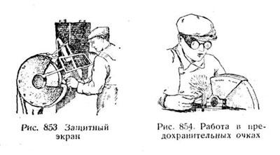 Защитный экран. Защитные очки